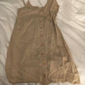 Khaki tank top dress